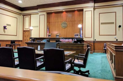 Defence Attorneys empty courtroom
